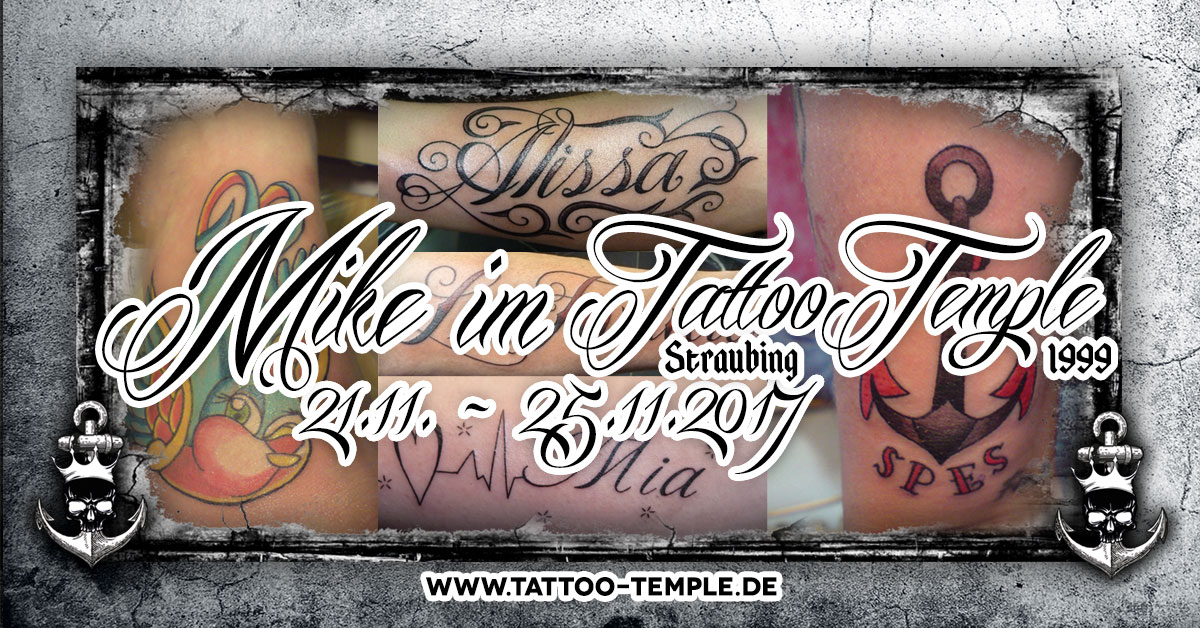 Mike im Tattoo Temple Straubing November 2017